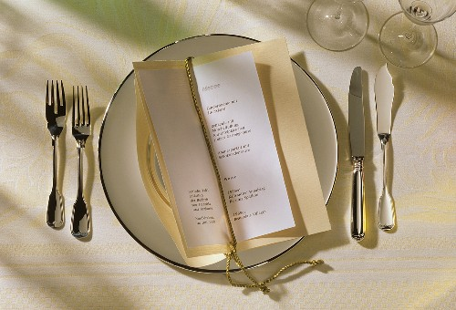 Single Place Setting with a Menu