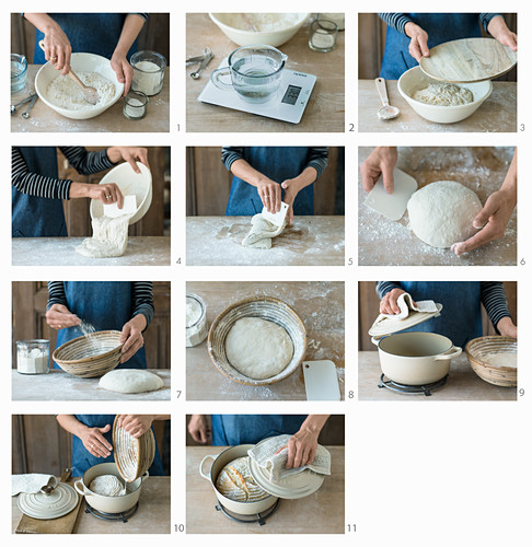 How to make white wheat bread in a roasting pan
