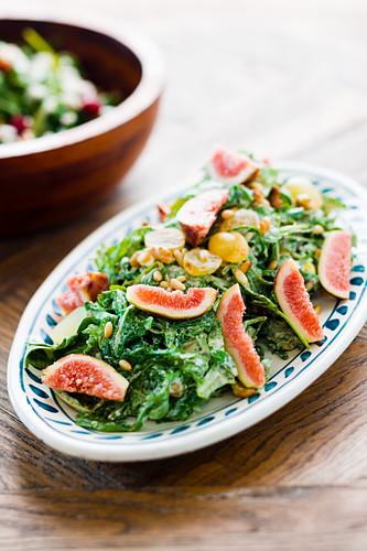 A fig and grape salad