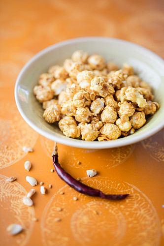 Peanut and Thai curry popcorn