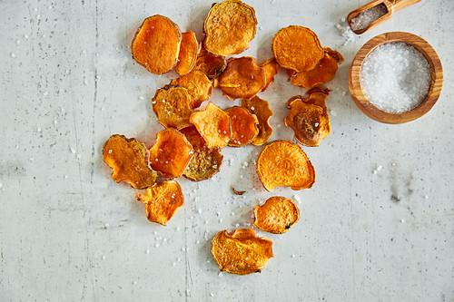 Sweet potato chips with smoked paprika