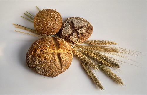 Three Loaves of Whole Grain Bread