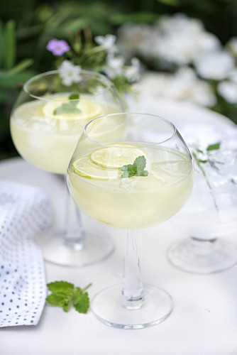 Summery limeade with mint