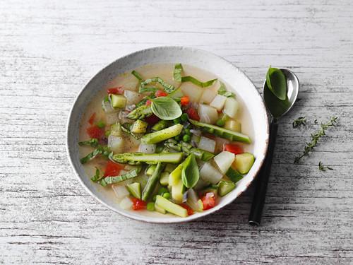 Vegan fit-for-fun minestrone
