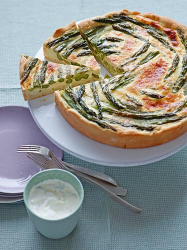 Asparagus and egg tart for Easter