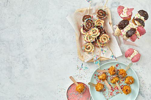 Honey Joy pops and fairy swirl pops