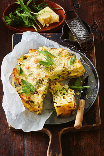 Spinach, Ricotta and broccoli pasta bake