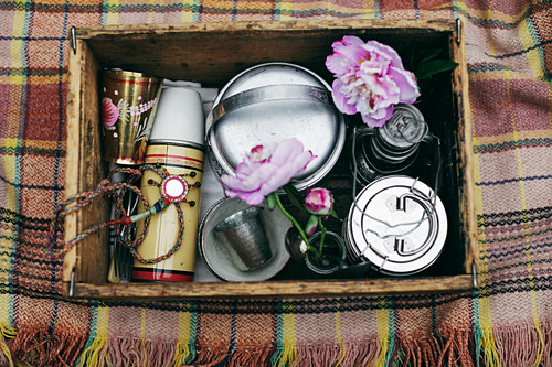 An Indian picnic in a wooden box