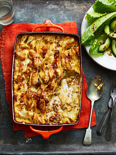 Tartiflette (potato casserole with cheese and bacon, France)