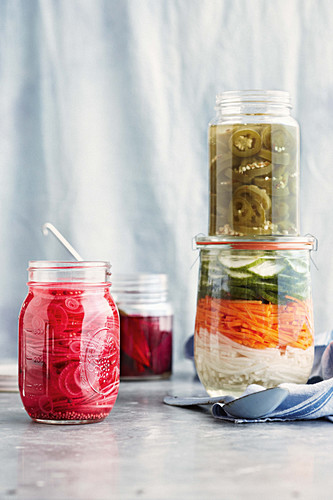 Pickled red onion, beetroot, jalapeno chillies and vietnamese slaw
