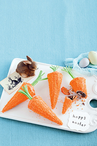 Mini chocolate carrots
