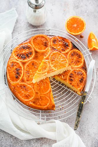Inverted orange cake