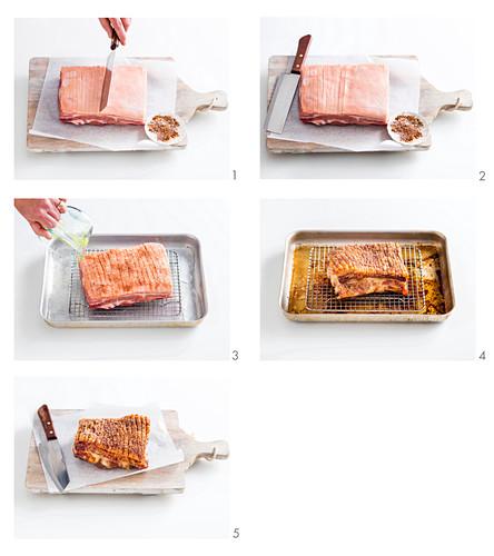 Preparing Five-spice Pork Belly