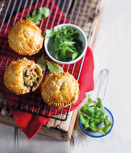 Beer and chicken pies