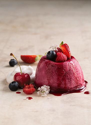 Gluten-free cherry berry puddings