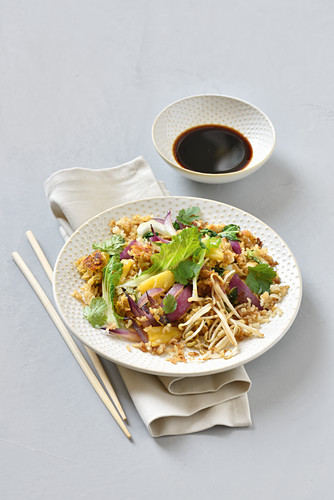 Fried rice with pineapple and vegetables