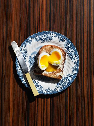 A soft egg on toast