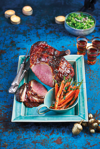 Stick whisky glazed ham and carrots in a herby butter