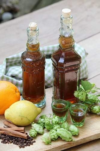 Wintery beer liqueur