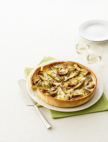 Artichoke quiche with cheese (Italy)