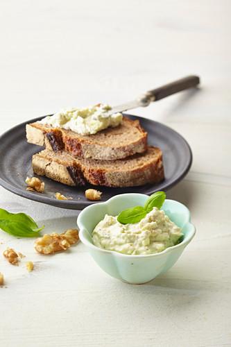 Walnut and camembert spread