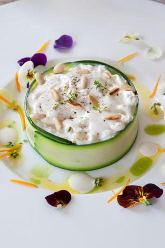 Zucchini and Stracciatella Cheese Tartare
