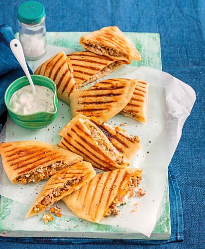 Moroccan Lamb and Pumpkin Pizza Pockets