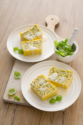 Courgette and ricotta millefeuille