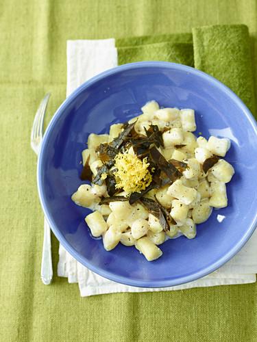 Millet Dumplings with Seaweeds and Saffron
