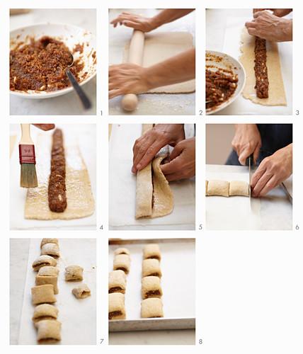 Preparing Fig Biscuits