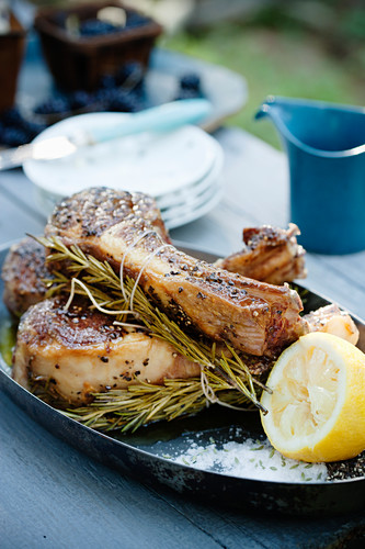 Fennel and rosemary baked lamb
