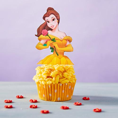 Yellow Princess cupcake