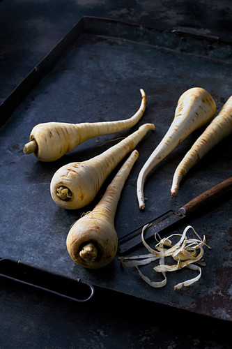 Parsnips with peeler