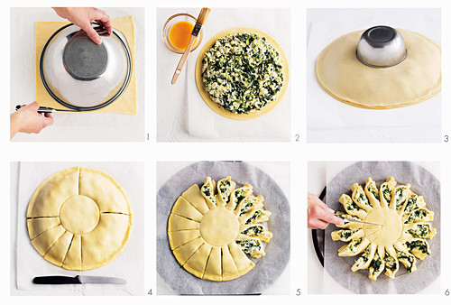 How to make plucked bread with spinach and ricotta