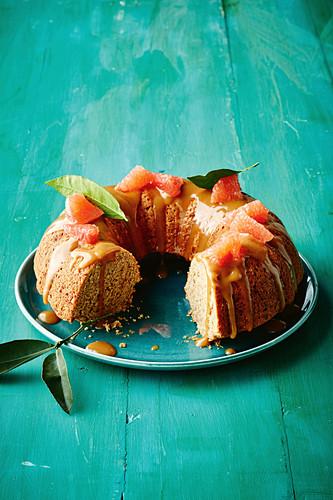 Ruby grapefruit and coconut bundt cake