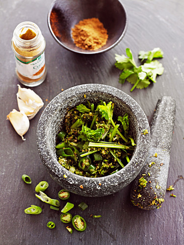 Make Green Curry Paste