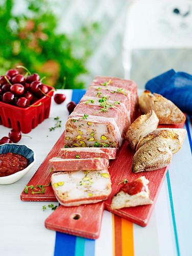 Turkey, pistachio and bacon terrine