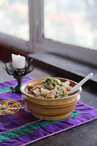 Vegetable stew from Tibet