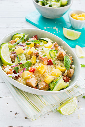 Couscous with pineapple marinade chicken