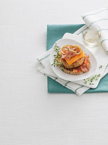 Chicken Burger with Cheddar
