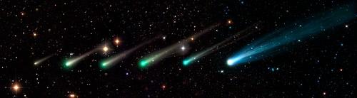 Comet ISON,time-lapse montage