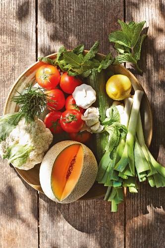 Zutaten für kalte Sommersuppen