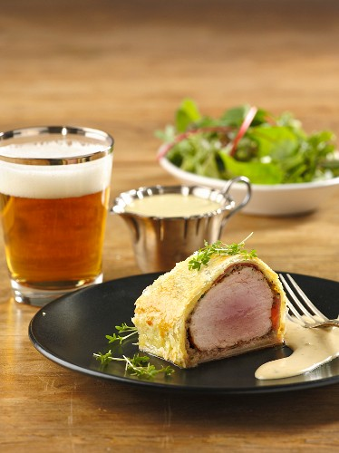 Pork fillet in puff pastry