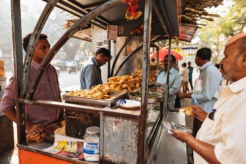 A street kitchen in Mumbai, India