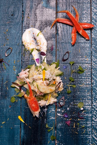 Crab salad with apple (Québec, Canada)