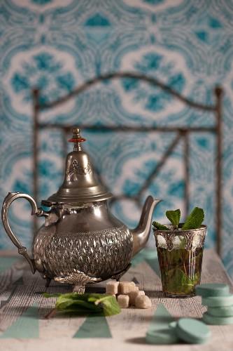 Moroccan peppermint tea