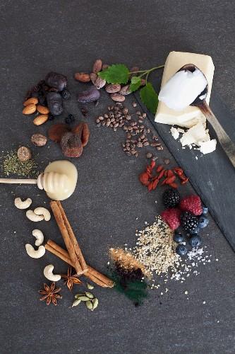 An arrangement of superfoods