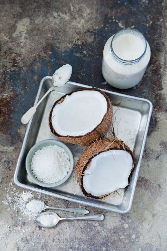 Coconut – fresh, dessicated and coconut oil
