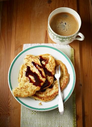 Potato pancakes with sugar beet syrup