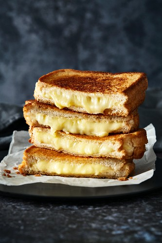 A stack of cheese toasties